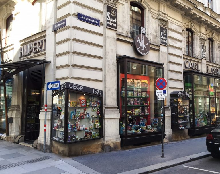 Ecke des Geschäftes